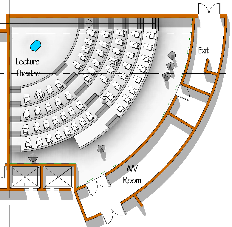 Image Gallery Lecture hall Plan