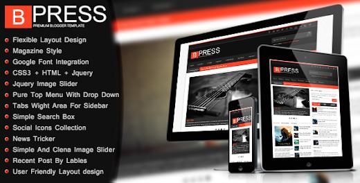 BPress blogger template