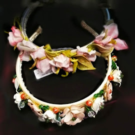 Dolce & Gabbana's ceramic flowered headbands.