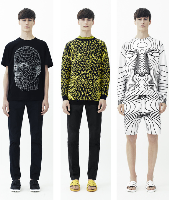 christopher kane mens spring 2014 3d shirts