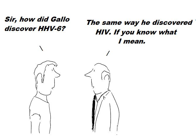 cartoon, gallo, cdc,nih, hhv-6, cover-up, fraud, hiv