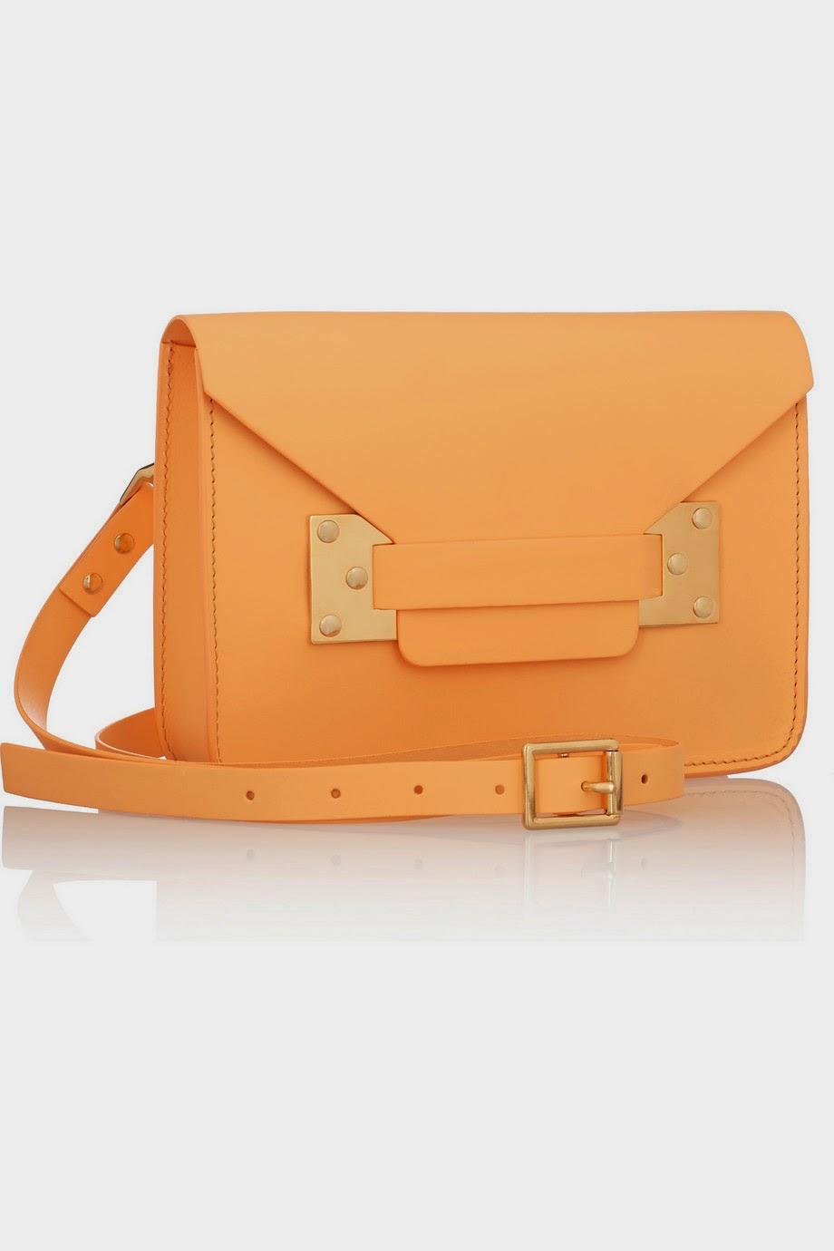Net-a-Porter Sophie Hulme Envelope mini leather shoulder bag