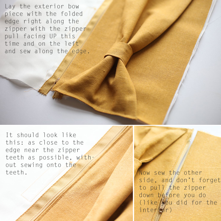 Bow clutch sewing tutorial.