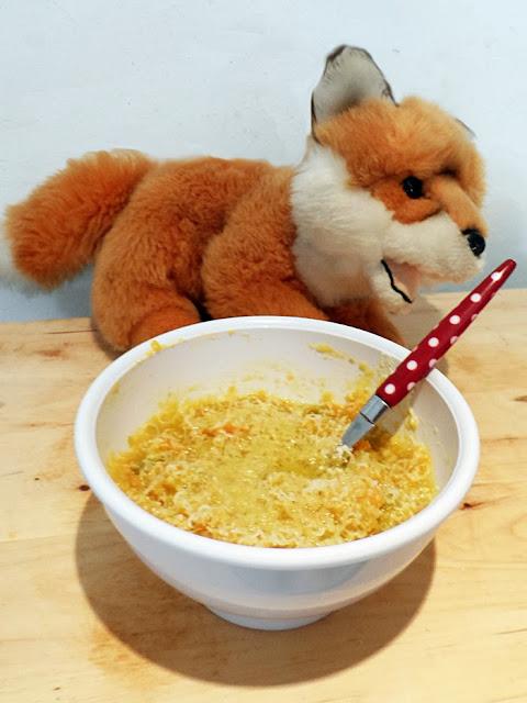 risotto con piselli, carote e pere