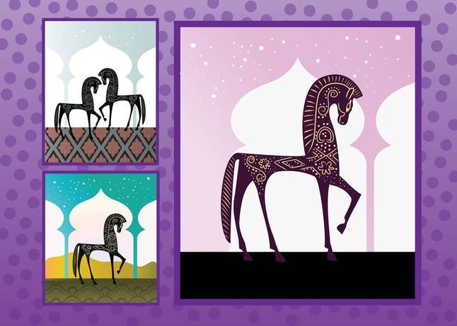 Free Horses Silhouettes Vector Graphics Download