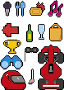 my first pixel art! created for the F1 issue in IS magazine