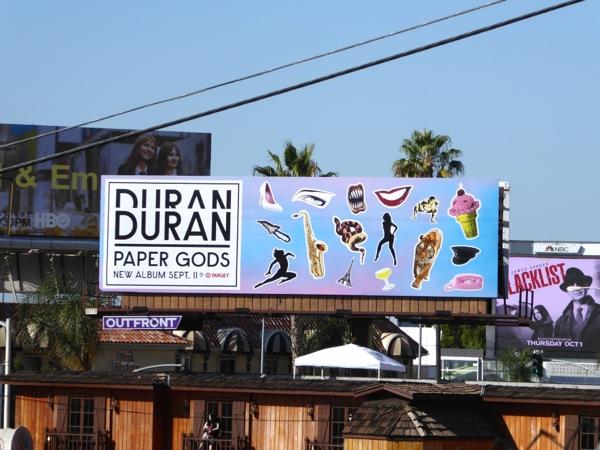 Duran Duran Paper Gods album billboard