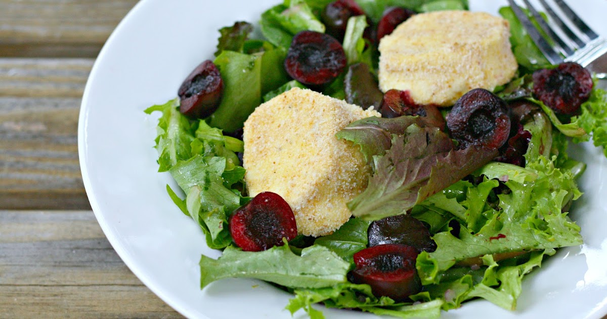 ... : Baked Goat Cheese and Cherry Salad with Lemon-Tarragon Dressing