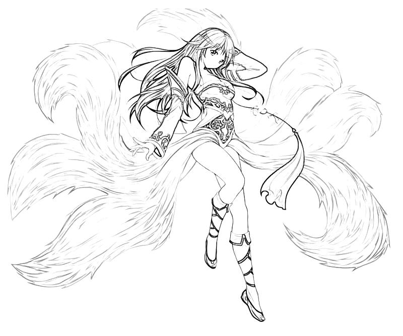 League of legends ahri power how coloring for League of legends coloring pages