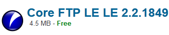 Core FTP LE LE 2.2.1849 Free download