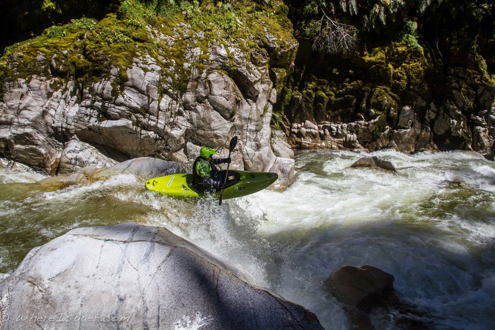 Kerry Hoglund enjoying the upper Kakers, Chris Baer, NZ,