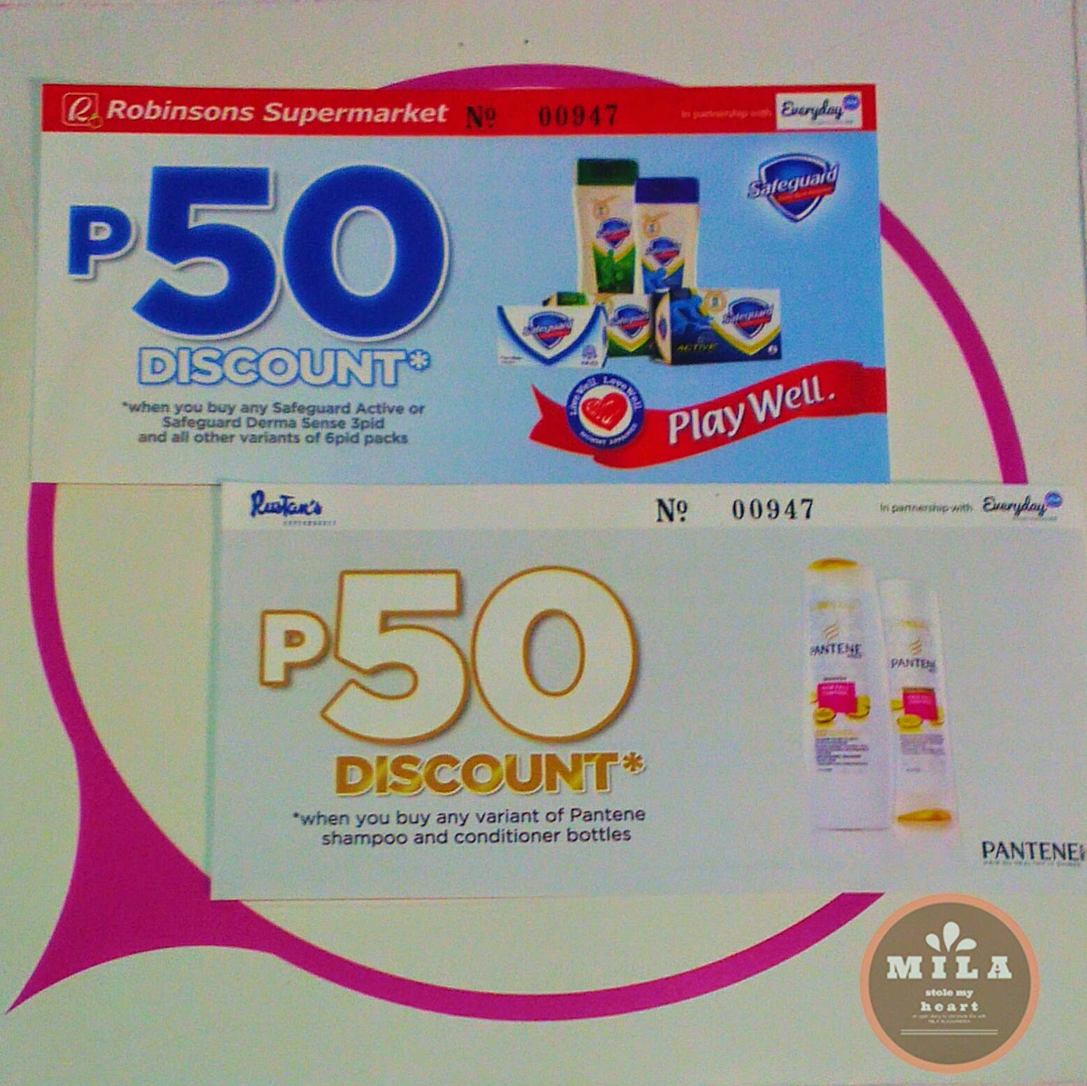 Safeguard and Pantene Discount Vouchers