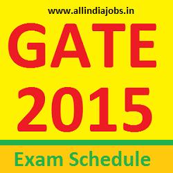 GATE 2015 Exam Schedule