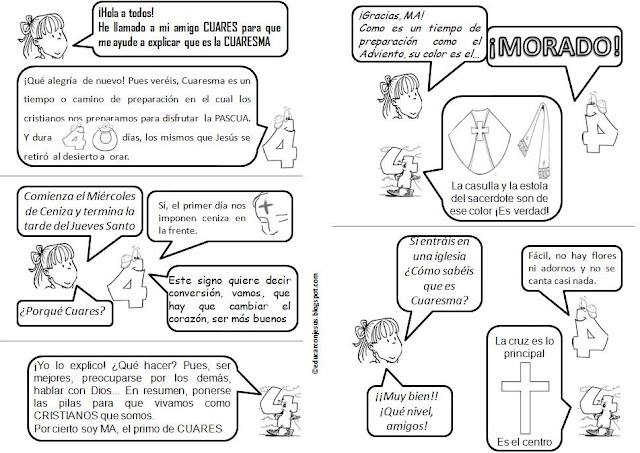 Explicación Sencilla para niños de la Cuaresma con un Cómic para ...