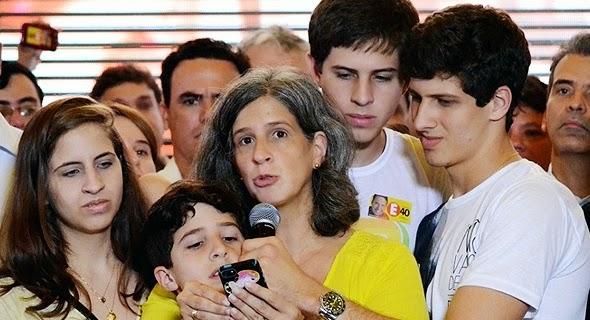 Renata Campos rejeita a ideia de ser candidata a vice de Marina.