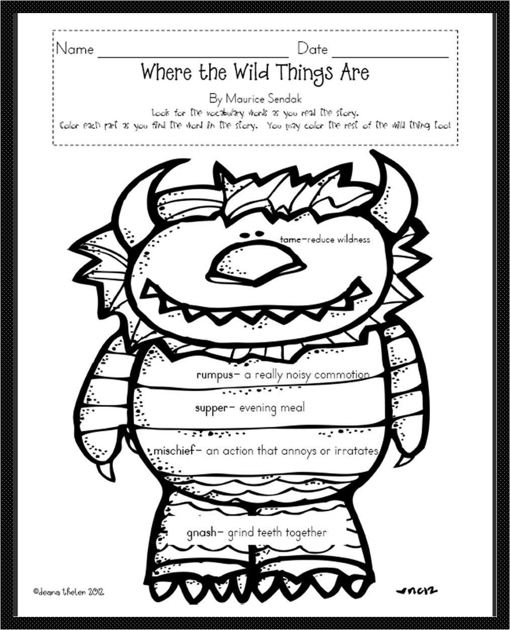 This is a picture of Refreshing Where the Wild Things Are Printables for Free