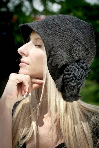 szydelkowy kapelusz vintage