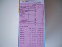 Valores nutricionales de las galletas Complet 3 con vitaminas y calcio Linnea V - Hacendado de Mercadona.