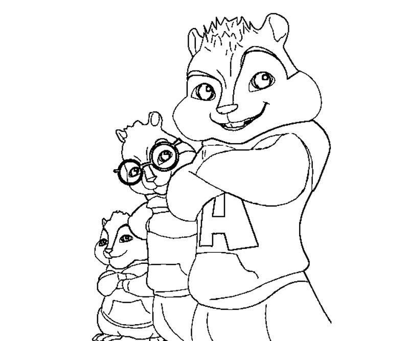 Cartoon Character Coloring Pages: Alvin And The Chipmunks Coloring Pages