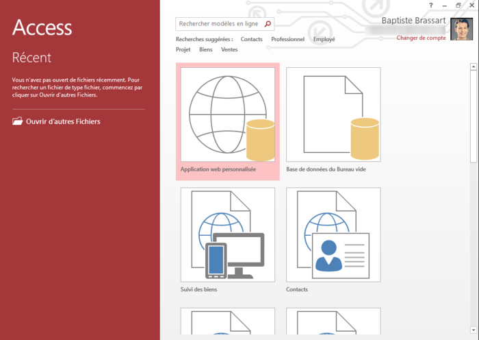 how to make database in microsoft access 2013