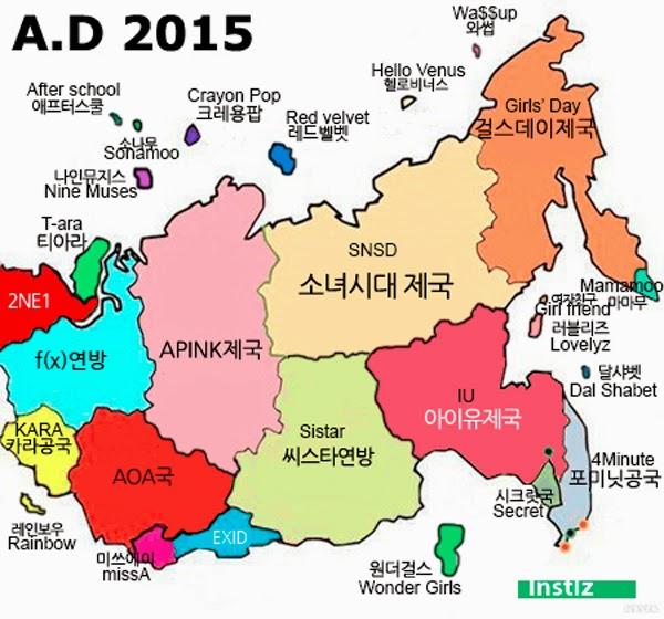 SNSD, A Pink thống trị; 2NE1, T-ara lép vế trong bản đồ Kpop 2015