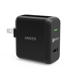 [Qualcomm Quick Charge 3.0] Anker PowerPort+ 1 (Quick Charge 3.0 18W USB Wall Charger) for Galaxy S6 Edge Plus, Note 5 4, Nexus 6, iPhone, iPad, Samsung Fast Charge Qi Wireless Charging Pad and More