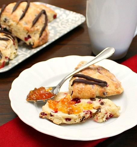 APPLE A DAY: Cranberry-Dark Chocolate Scones
