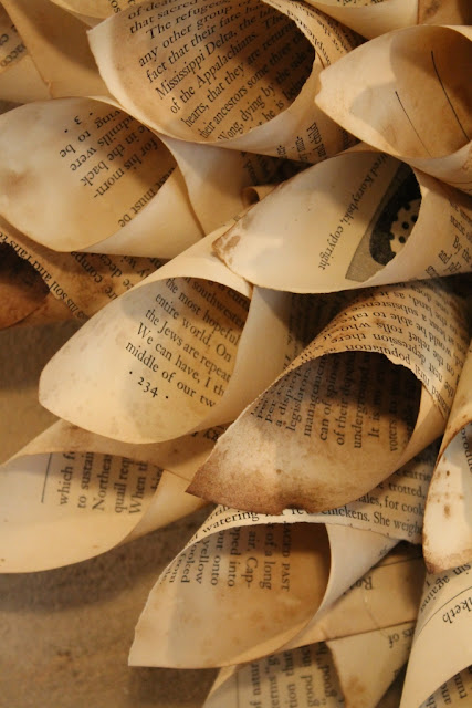 cones for book wreath