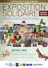 EXPOSITION SOLIDAIRE D'ENFANTS ET SANTÉ AU CHÂTEAU DE SAINT JEAN LE BLANC