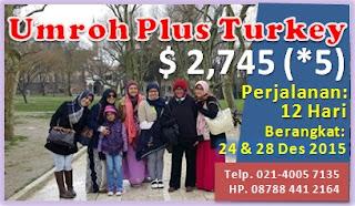Paket Umroh Plus Turki 2015