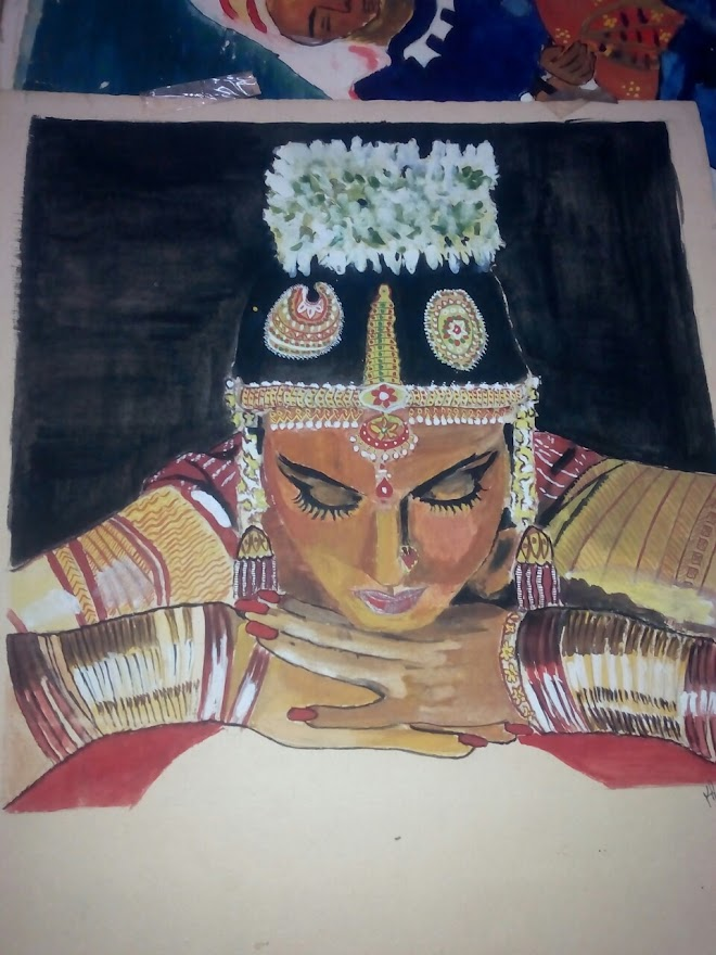 A Painting by my Sister: Rekha, a Famous Indian Actress