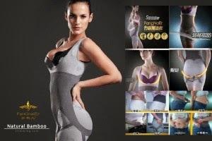 Review Harga Natural Bamboo Slimming Suit Asli Pakaian Pelangsing Tubuh Murah