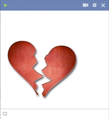 Broken Heart Emoticon For Facebook Chat