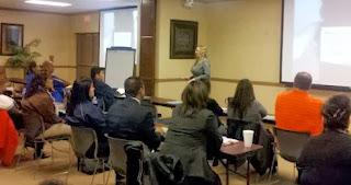 Rebecca Lake leads training for school staff in Raymondville.