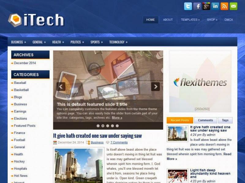 iTech - Free Wordpress Theme