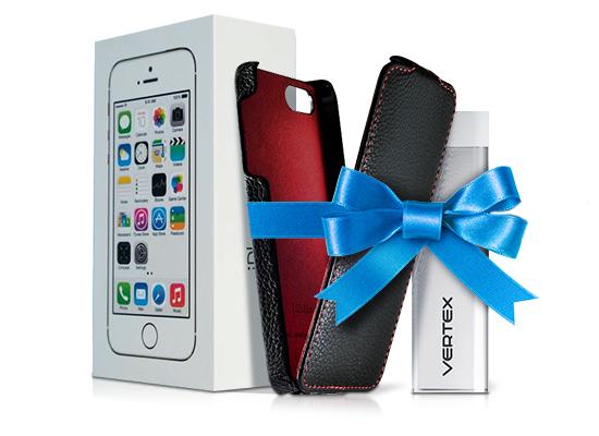Целых три подарка при покупке смартфона Apple!