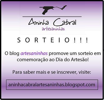 Sorteio no blog Artesaninhas