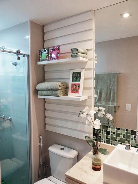 PRATELEIRAS E NICHOS NO BANHEIRO  Papo de Design -> Nicho Para Banheiro Toalhas