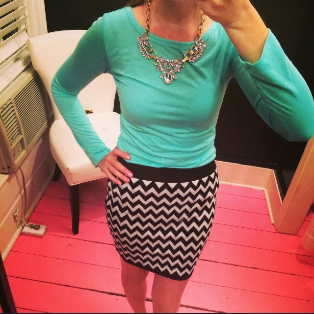 how to style a chevron skirt
