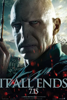 "Harry Potter and the Deathly Hallows: Part 2 ""It All Ends"" Portrait Movie Poster Set - Ralph Fiennes as Lord Voldemort"