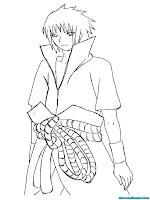 Download Buku Mewarnai Gratis Sasuke Naruto