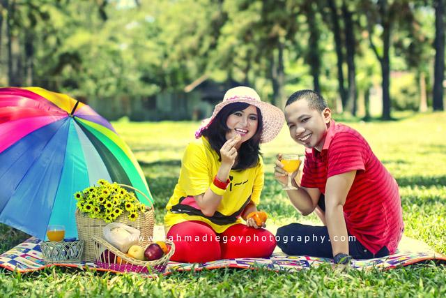 foto prewedding agus dan dewi konsep balon