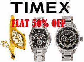 Timex Watches – Flat 50% Off on Men's & Women's Watches@ Myntra
