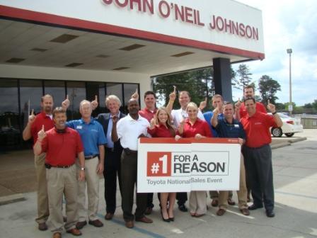 John Oneil Johnson Toyota >> John O Neil Johnson Motor Company