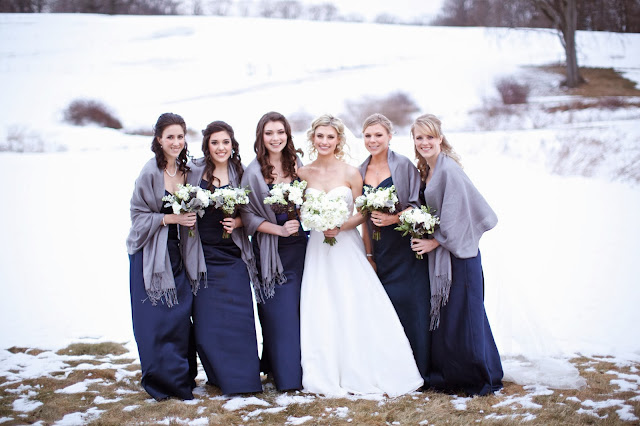 winter wedding white and navy