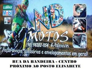 ND MOTOS - ADESIVAÇÃO DE SUA MOTO E MANUTENÇÃO EM GERAL