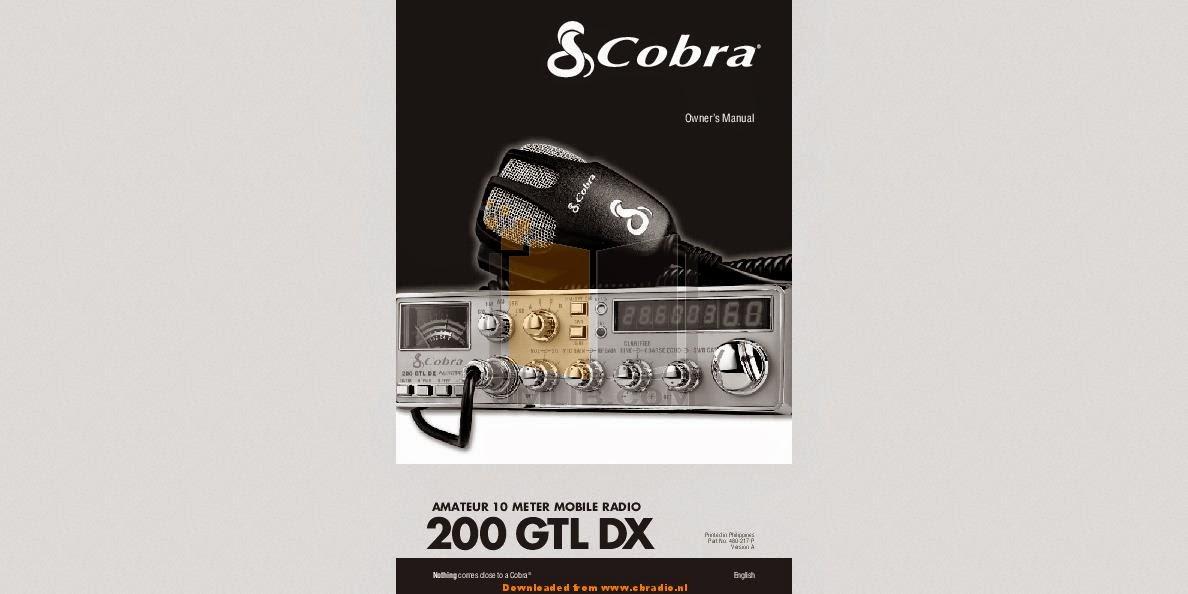 COBRA MICROTALK MT 200 MANUAL