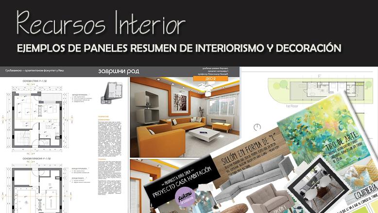 Ejemplos de paneles resumen de interiorismo y decoraci n for Programa interiorismo
