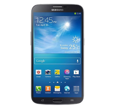 samsung galaxy mega shining black 6.3-inches smartphone front display