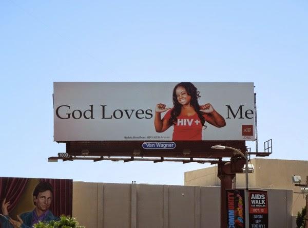 God love me HIV+ woman billboard